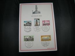 "BELG.1974 1718 1719 1720 1721 & 1722 Filatelia Card  ""Historische Uitgifte/ Emission Historique"" - FDC"