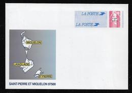 SAINT PIERRE ET MIQUELON  ( SPMB - 58 )  1996  N° YVERT ET TELLIER  N° 31-E   N** - Postal Stationery