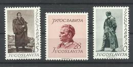 YUGOSLAVIA YVERT  607/9   MH  * - Nuovi
