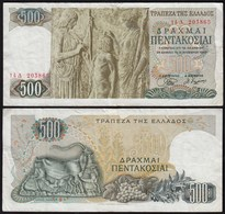 Griechenland - Greece 500 Drachmai 1968 F/VF (3/4) Pick 197   (23971 - Griechenland