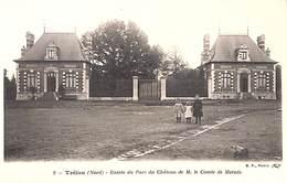 59 - Trélon - Entrée Du Parc Du Château De M. Le COmte De Mérode (animée) - France