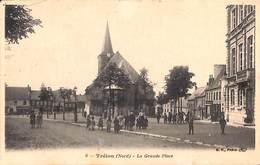 59 - Trélon - La Grande Place (animée) - France