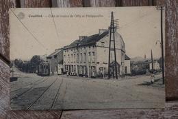 CPA - Couillet - Coin De Routes De Gilly Et Philippeville - Charleroi
