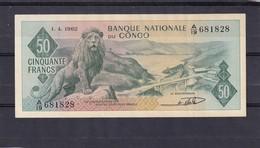 Congo Belgian  50 Fr 1962  AU  Comme Neuf ...wie Neu - República Democrática Del Congo & Zaire