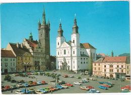 Klatovy: TRABANT 601 UNIVERSAL, SKODA 1000MB, 1203, GAZ-VOLGA M24, POLSKI-FIAT 126P, LADA  Etc. - Namesti Miru - (CSSR) - Passenger Cars