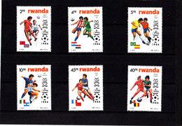 Soccer World Cup 1986 - RWANDA - Set MNH** - World Cup