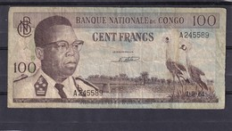 Congo   Ex Belgian  100 Fr 1961  Fine - Congo