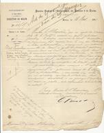 Courriers (Melun, 1903) Relatif à La Vente De Pain à L'étang Aux Carpes Du Palais De Fontainebleau - 3 Feuilles - Documents Historiques