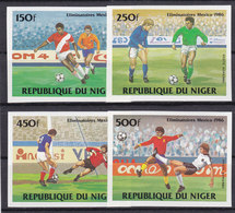 Soccer World Cup 1986 - NIGER - Set Imp. MNH** - World Cup