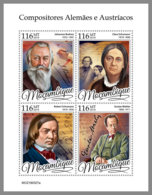 MOZAMBIQUE 2019 MNH Brahms Clara Schumann Robert Schumann Mahler Composers M/S - OFFICIAL ISSUE - DH1926 - Musik