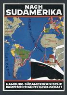 "1920'S HAMBURG SUD AMERIKA ""CAP ARCONA"" -- COLOURED -- POSTER ADVERT CARD - Paquebots"