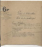 Document Partiel Relatif Aux Concessions De Vente De Pain à L'étang Aux Carpes Du Palais De Fontainebleau - Documents Historiques