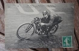 CPA - Les Sports - Motocyclettiste Belge - Le Démon Anversois Recordman De L'heure - Motorcycle Sport