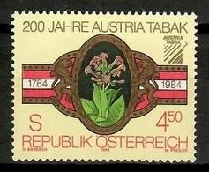 Austria 1984 / Tobacco Cigar  MNH Tabaco Puros Cigarros / Ki37  5-14 - Tabaco