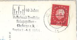 Berlin 1959 Volksbund Deutsche Kriegsgräber Fürsorge Theodor Heuss - Bristol Hotel Kempinski                 [ALT  0178] - BRD