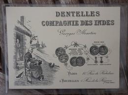 CPA - Dentelles - Compagnie Des Indes - Georges Martin - Paris/Bruxelles - Publicité