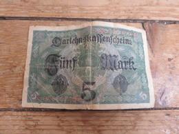Billet De 5 Marks Daté 1917 - 1914-18