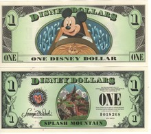 USA   DISNEY $ 1  MICKEY MOUSE  Serie D 2014  (last Year Of Issue)   GENUINE - Collections