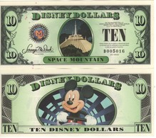 USA   DISNEY $ 10   Mickey Mouse   Serie D 2014  (last Year Of Issue)   GENUINE - Collections