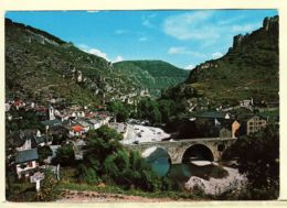 X48016 STE Sainte ENIMIE Gorges Du TARN Lozere Vue Générale Village Pont GORGES TARN 1980s - APA POUX - Francia