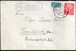B 17) BRD 1955 Landpost 22b Hinzert über Hermeskeil - Covers & Documents