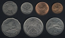 Kiribati, Satz 1979, 1 Cent - 1 Dollar, 7 Münzen, UNC, Rare - Kiribati