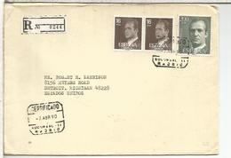 MADRID CC A USA SELLOS BASICA - 1931-Hoy: 2ª República - ... Juan Carlos I
