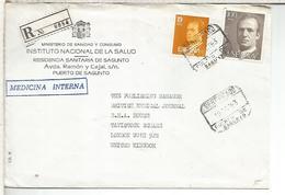 PUERTO DE SAGUNTO VALENCIA CC A UK SELLOS BASICA - 1931-Hoy: 2ª República - ... Juan Carlos I