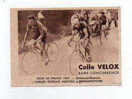 CYCLISME TOUR DE FRANCE  1947 ETAPE STRASBOURG BESANCON  KUBLER ROSELLOMATHIEU BONNAVENTURE - Cycling