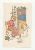 CARTOLINA Post Card - Vintage - Religiosa - NOVA N° 71 Cromo N. B. 1937 - Santi