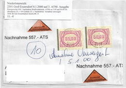 3099c: Heimatbeleg Nachnahmebrief Briefvorderseite 2301 Groß Enzersdorf 4.1.2000 - Gänserndorf