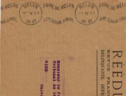 France. Flamme. Port Payé. Melun. La Foire - Poststempel (Briefe)
