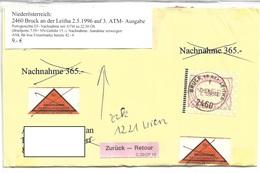3099j: Heimatbeleg Nachnahmebrief 2460 Bruck An Der Leitha 2.5.1996 - Bruck An Der Leitha