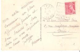 Isère :- ALLEVARD LES BAINS Dagun SALUT DES VOIES RESPIRATOIRES - Marcophilie (Lettres)