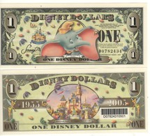 USA   DISNEY $ 1  DUMBO   Serie D  2005   With BAR CODE   GENUINE - Collections