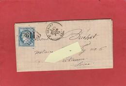 Aveyron - St Geniez - GC 3614 Sur Cérès - Boîte Rurale Prades D'Aubrac - LAC Du Notaire De Prades 1875 - Postmark Collection (Covers)