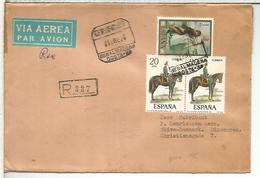 BENALMADENA MALAGA C C CERTIFICADA SELLOS PINTURA SOLDADO A CABALLO MILITAR HORSE - 1931-Hoy: 2ª República - ... Juan Carlos I