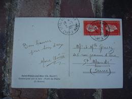 2.7.1945 Paire Timbre Marianne Dulac 50 C Orange Sur Lettre - Postmark Collection (Covers)
