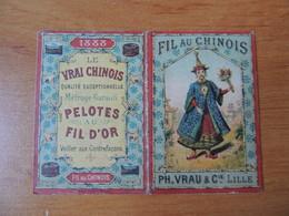 Calendrier Publicitaire 1888 – Fil Au Chinois - Calendarios