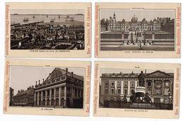 """5 Chromos--ANGERS--""""Maison Cottereau-Charnacé""""-Vues De Cherbourg,Reims,Fontainebleau,Lille Et Rouen-- - Autres"""