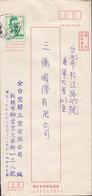 Taiwan Postal Stationery Ganzsache Entier PRIVATE Print 5.00 Used (2 Scans) - 1945-... République De Chine