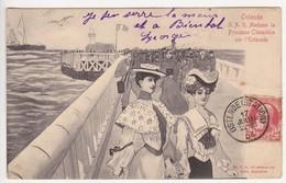 CPA Oostende - Madame La Princesse Clémentine Sur L'Estacade - Oostende
