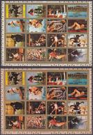 Ajman 31.03.1973 Mi # 2605-20AB 1972 Munich Summer Olympics (VIII) MNH OG, PERF & IMPERF - Verano 1972: Munich