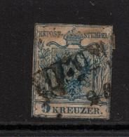 Austria 1850 9K Brown Used Spacefiller - 1850-1918 Imperium