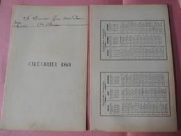 Calendriers 1869-1885 - Kalenders