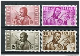 Guinea Española 1953. Edifil 321-24 ** MNH. - Guinea Española