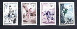FRANCE  N° 1072 à 1075   NON DENTELES  NEUFS SANS CHARNIERE  COTE 155.00€   SPORT - France