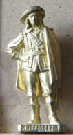 MONDOSORPRESA, (SLDN°15) KINDER FERRERO, SOLDATINI IN METALLO  MOSCHETTIERI 1670 N° 1 - SCAME 40MM - Figurine In Metallo