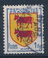 Frankreich 1 F. Gest. Wappen Bearn Kuh - Briefmarken