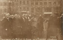 STRASBOURG  /  LE  PRÉSIDENT  POINCARÉ  ET  CLÉMENCEAU  LE  9  DÉCEMBRE  1918  /  Carte  Photo - Strasbourg